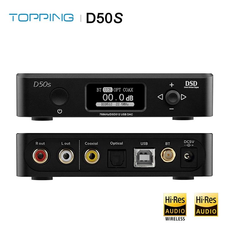 TOPPING D50S Dual ES9038Q2M Bluetooth 5 0 HiFi Audio Desktop DAC Decoder USB DAC PCM 32bit