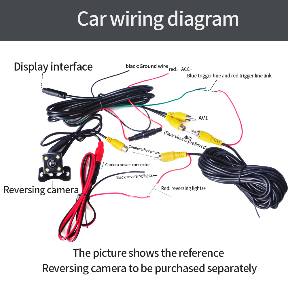 Vehemo 2 Channel 7inch Display Premium Universal Monitor Reverse Car Wiring Diagram Priority Audio Player Mp5 Rearview Ebook In Mp4 Players From