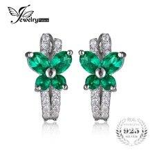 Jewelrypalace Mariposa 1ct Creado Esmeralda Nano Ruso Clip En Los Pendientes Esterlina del Sólido 925 de Plata 2016 Nueva Joyería de Las Mujeres