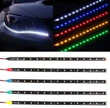 1Pcs Lot 30cm 15 LED Daytime Running font b lights b font DC12V 3528 Waterproof Auto