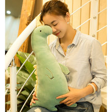 Funny Family Japanese Anime Plush Stuffed Toys Green Dinosaur Home Sofa Decorate Big Ear Pig Bolster