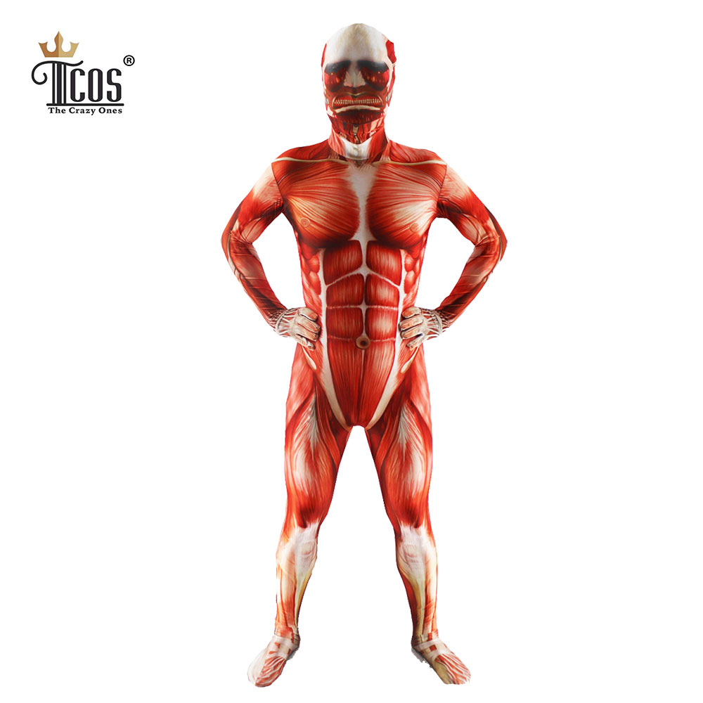 TCOS 2016 NEW Attack On Titan Cosplay-kostuums Heren Zentai-pak - Carnavalskostuums
