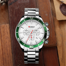 цена Mens Watches Top Luxury Brand CURREN 2019 Men Full Steel Watches Quartz Watch Analog Waterproof Sports Army Military WristWatch онлайн в 2017 году