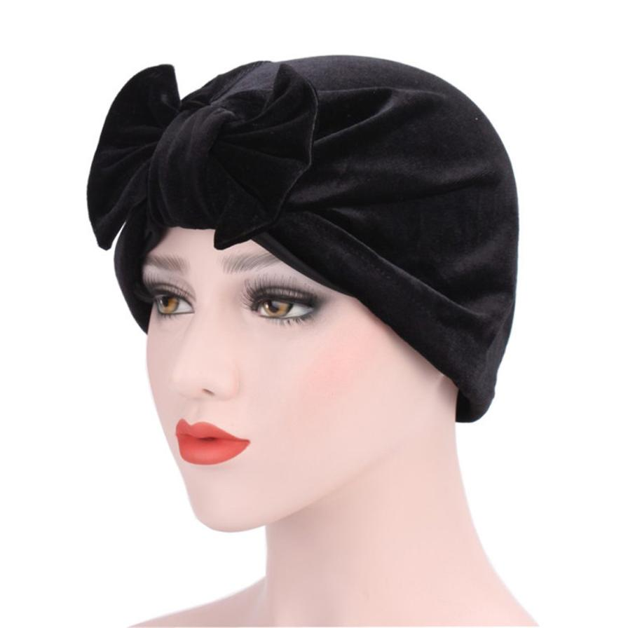 где купить Women Elastic Cap Turban Muslim Bowknot Muslim Ruffle Cancer Chemo Hat Beanie Scarf Turban Head Wrap Cap breathable Take Photo по лучшей цене