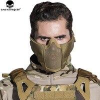 EMERSONGEAR Taktik Airsoft Maskesi Yüz Metal Çelik Net Yarım Alt Yüz Avcılık CS Koruyucu Paintball Parti Maskesi