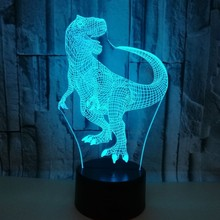 Colorful Touch 3d Lamp Illusion Led Night Light USB Dinosaur Atmosphere Table Lamp for Children Baby Kids Gift Bedside Bedroom