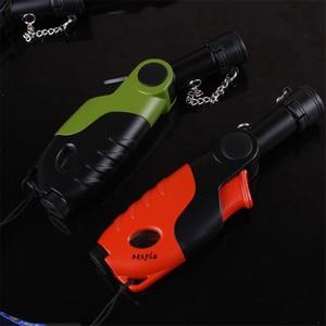 Image 5 - Outdoor 1300 C Butane Jet Lighter Torch Turbo Lighter Cigarette Accessories Gas Rotatable Lighter Windproof Metal