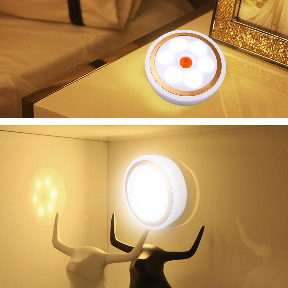 For Hallway Pathway Closet Wall Smart 6 LED Night Light With Magnet Auto On/Off