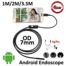 7mm Micro USB Android OTG Endoscope Camera 1M 2M 3.5M Flexible Snake Pipe Inspection Waterproof OTG USB Borescope Camera
