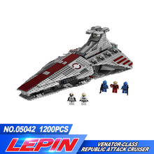 New Lepin 05042  Series The Republic Fighting Cruiser Set Building Blocks Bricks Educational Toys compatible legoed 8039