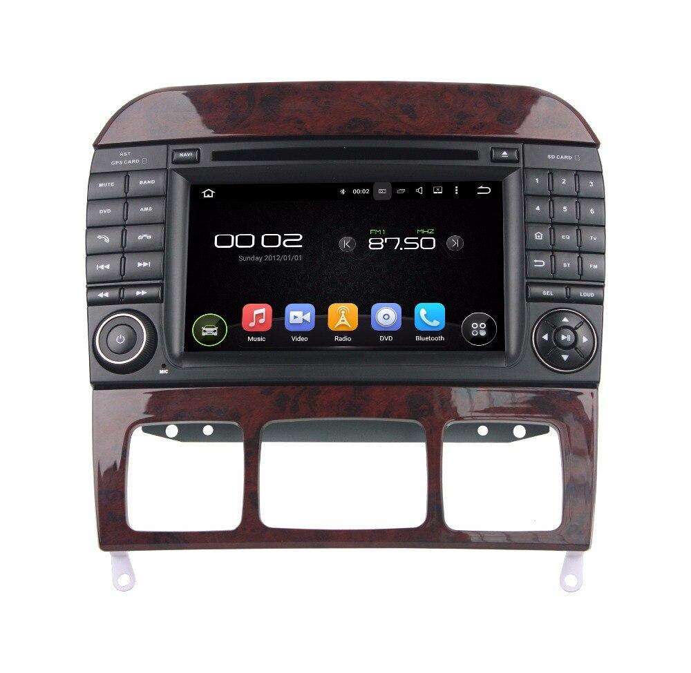 Android 8.0 octa core 4 GB RAM lecteur dvd de voiture pour BENZ W220 S280 S320 S350 ips écran tactile unités de tête enregistreur radio gps