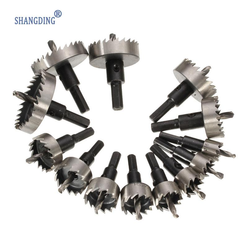 цена на High Quality 13Pcs/Set Tooth Kit 16-53mm Drill Bit Hole Saw Set Stainless Steel Metal Alloy Best Price