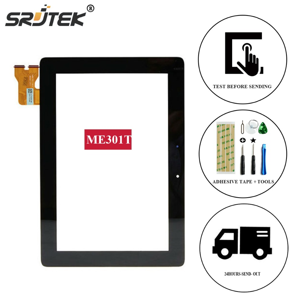 Srjtek For Asus MeMo Pad Smart 10 ME301 ME301T 5280N FPC-1 Touch Panel Screen Digitizer Glass Lens Replacement Free Shipping new for asus eee pad transformer prime tf201 version 1 0 touch screen glass digitizer panel tools
