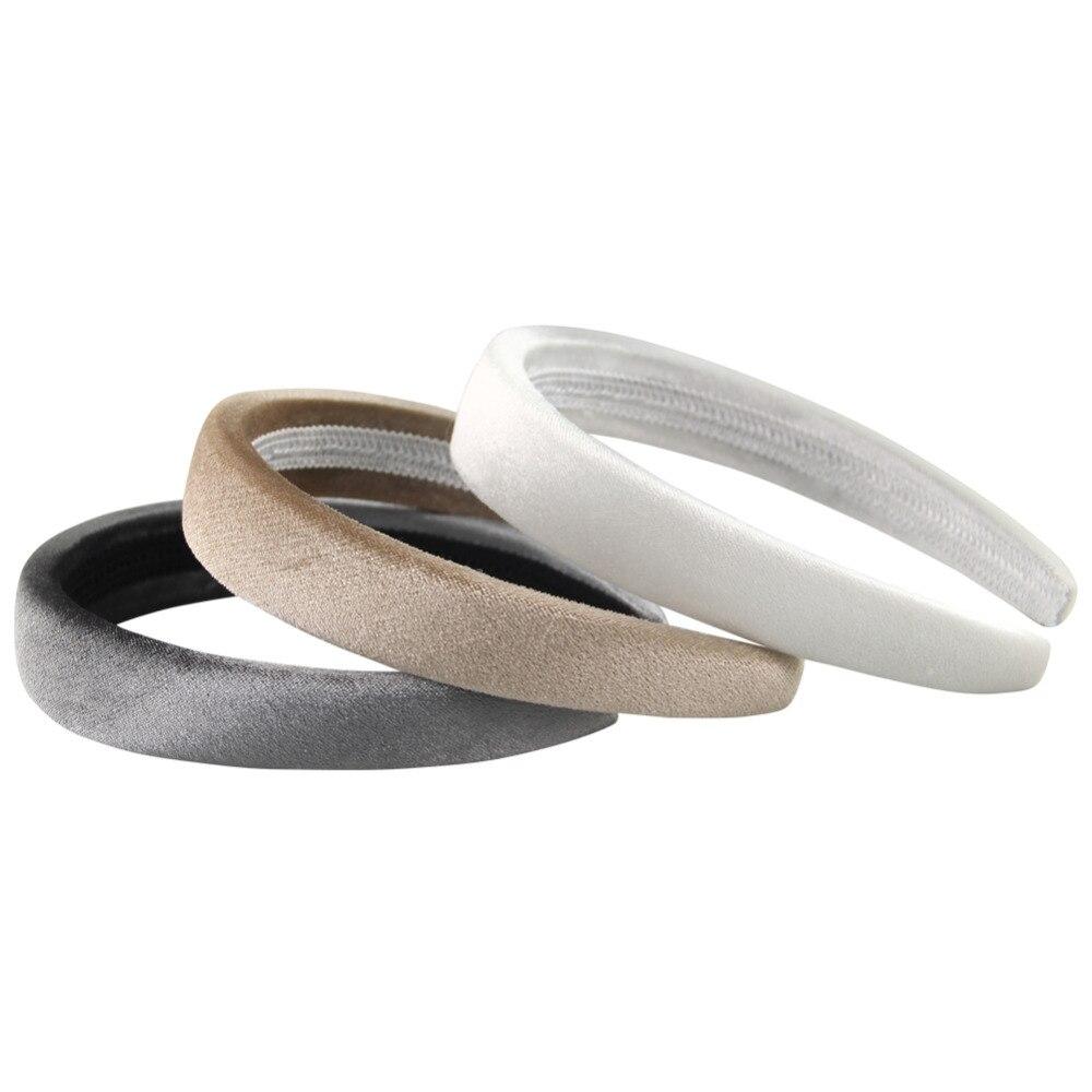 1Pcs Thin Sponge Velvet Hair Band Female Fashion Solid Headbands   Headwear   Lovely Hair Accessories for Women Drop Shipping