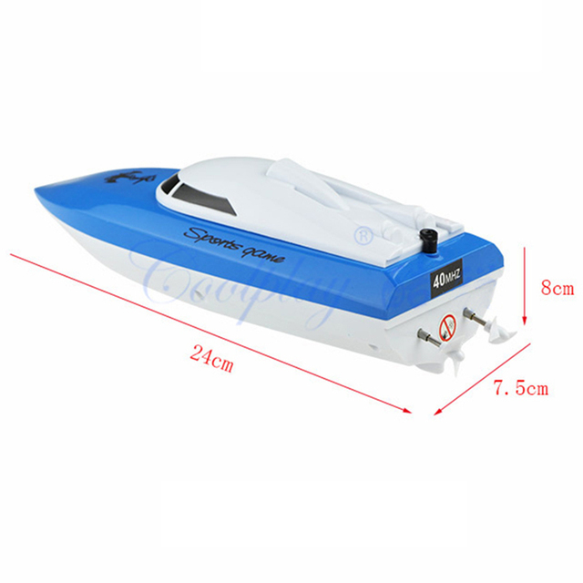 Plastic Speed Racing RC Boat 4 Channels RC Boat Toys Remote Control Ship Outdoors Racing Speedboat Toys for Children Gifts