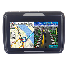 "8GB and FM ! Color Black 4.3"" Waterproof IPX7 Bluetooth GPS Navigator for Motorcycle+4GB Flash+ Many Professional Country Maps"