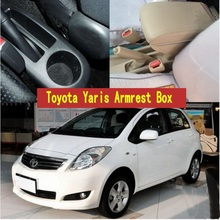 For Toyota Yaris armrest box central Store content Storage box with cup holder ashtray USB interface