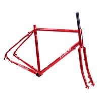 Цунами CR MO сталь 700c Road Touring рамки et CX циклокросс 28 вилы гравий дисковый тормоз классический Chrome Велосипедный спорт