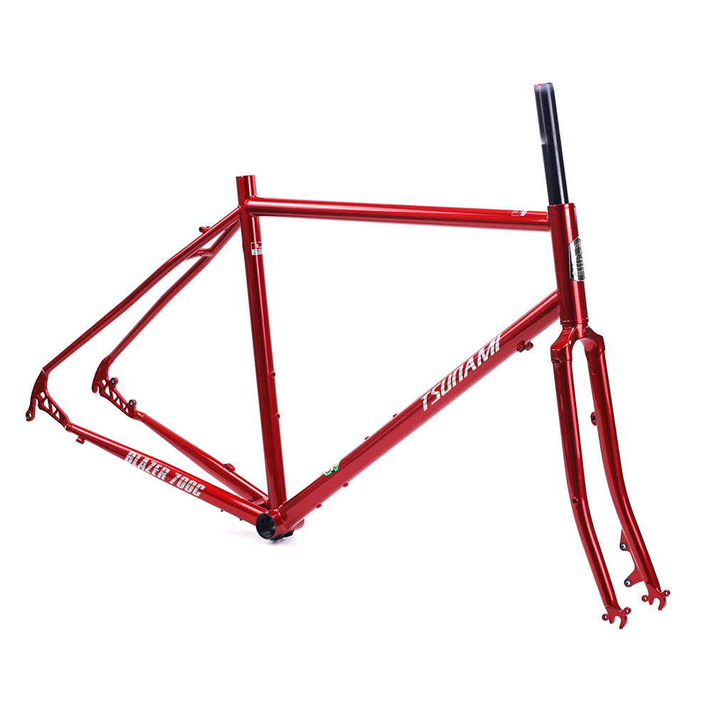 TSUNAMI CR-MO Steel 700c Road Touring Frameset CX Cyclocross 28
