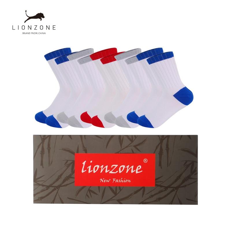 Movement Thicken Socks For Winter Warm Calcetines Hombre Bamboo Fiber Contracted Hemp Men Socks 5Paris/Lot New Gift Box