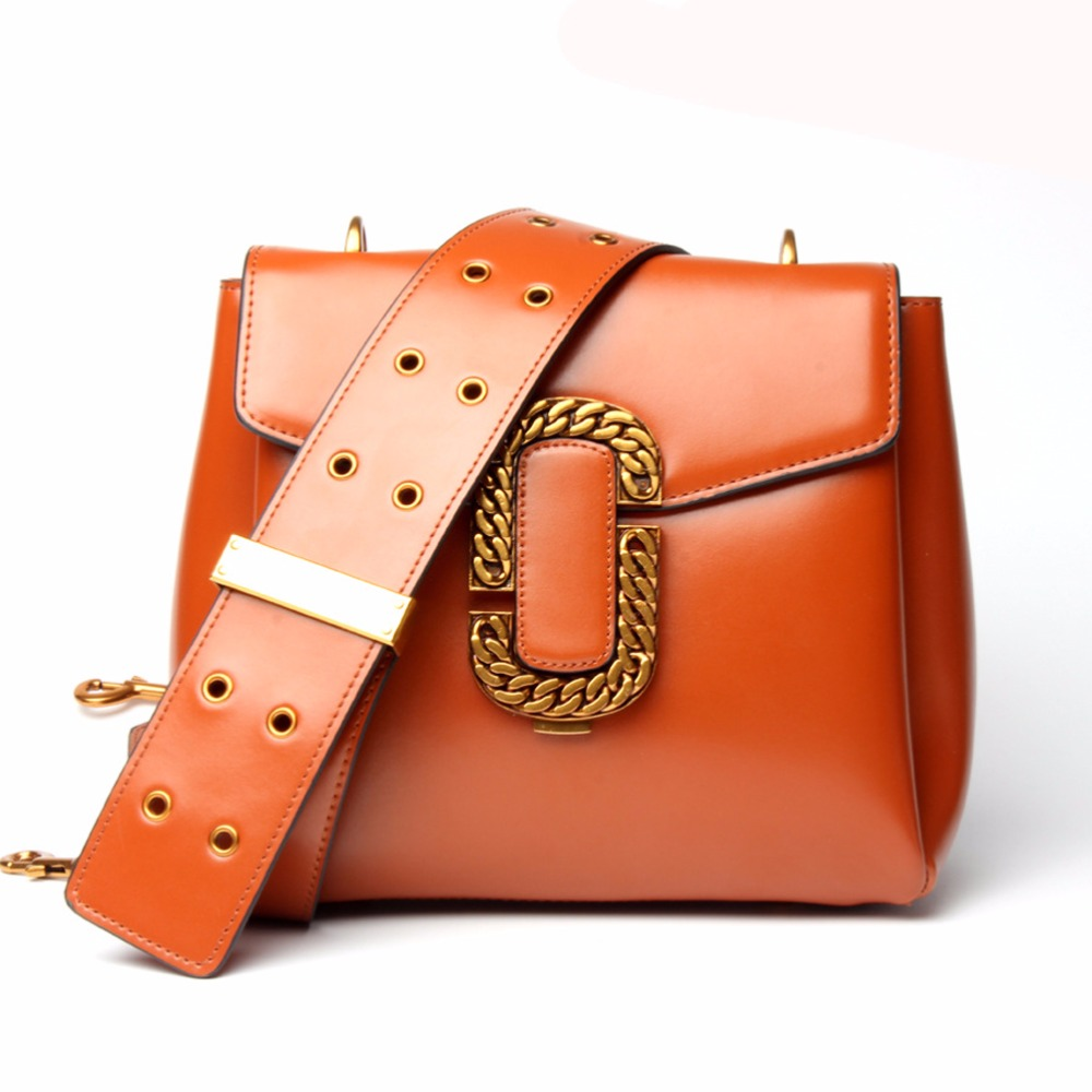 2018 New Fashion Square Cowhide  Waterproof Handbags Single Shoulder Bag Snap Hook Crossbody Bags 100pcs 4colors 13mm high quality trigger snap hook clasp clip swivel dog leash hook bags handbags adjusted strap hooks 50pcs