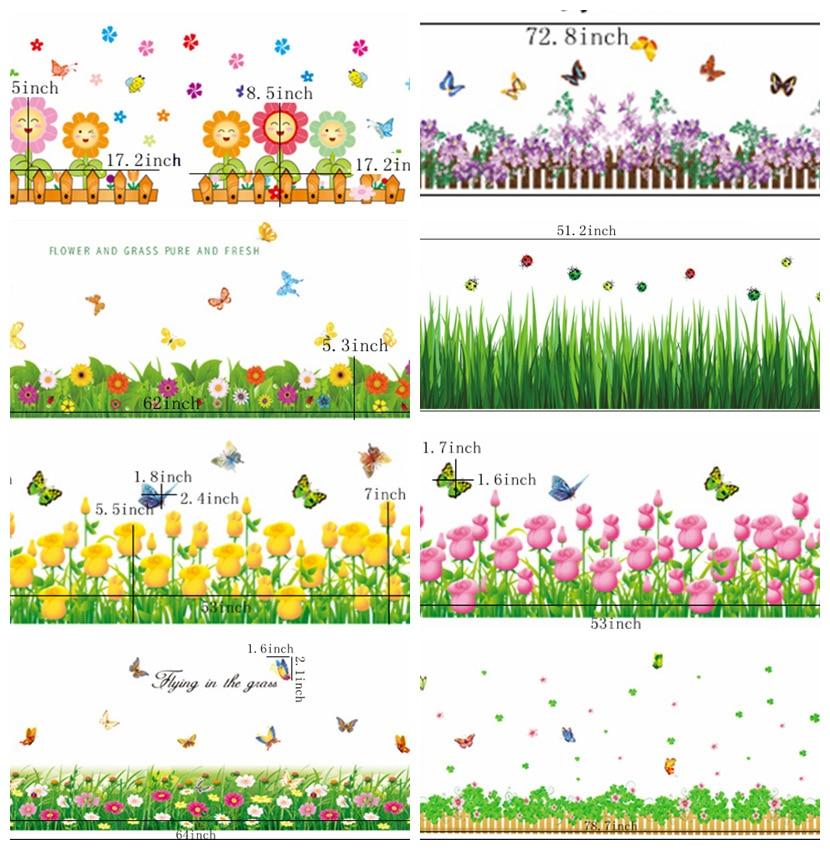Home Decorators Coupon Code 2014: Zs Sticker Flowers Wall Sticker Natural Home Decor Grass