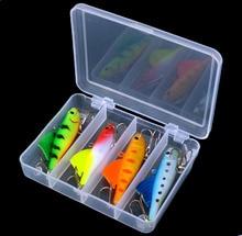 4pcs set Soft Hard Fishing Lure Kit with Tackle Box Winter Spring Autumn Sea Vib Fishing