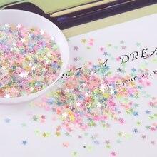 10g 3mm 4 milímetros Formato de Estrela Prego Cristal Lantejoula Lantejoulas Paillettes para Nails Art Glitter, confete de casamento Decro, compõem Acessórios