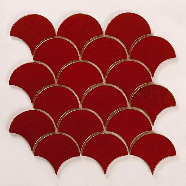 Kepinfy керамическая мозаика безопасный строительный материал сетки установлен для стены backsplashes моющиеся фарфор мозаика - Цвет: 1 LOT