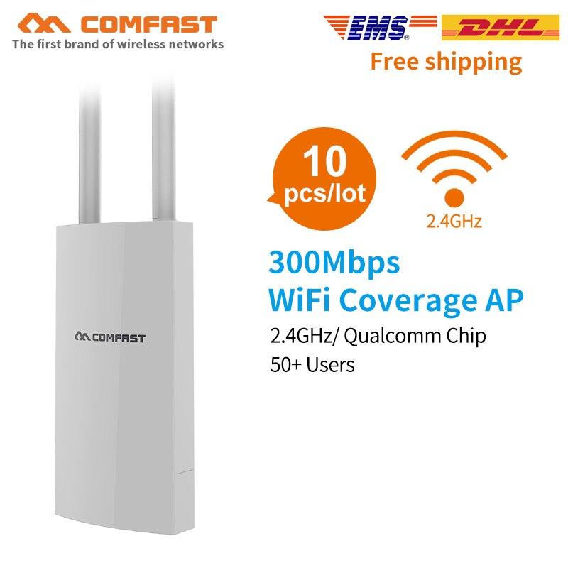 10 Stücke Comfast 300 Mbps Cf-ew71 High Power Wifi Router Outdoor Ap 360 Grad Omnidirektionale Abdeckung Access Point Wifi Basis Station Durch Wissenschaftlichen Prozess