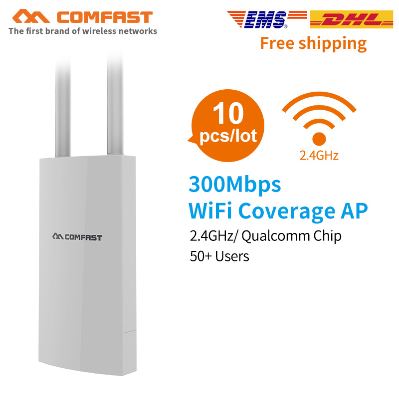 10pcs Comfast 300Mbps CF-EW71 High Power Wifi Router Outdoor AP 360 Degree Omnidirectional Cover Access Point Wifi Base Station