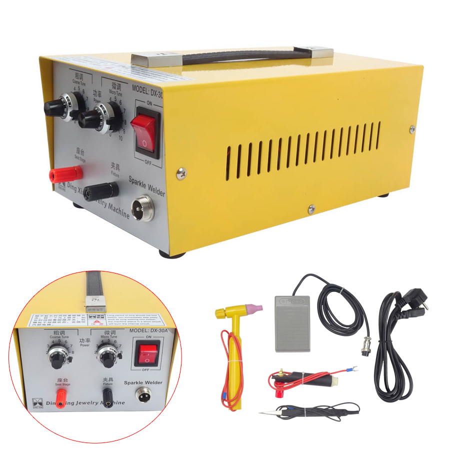 DX-30A Golden Welding Laser Spot Welding Good Pulse Spot Welder 400W 30A 110V Jewelry Welding Machine Gold Silver Platinum цена и фото