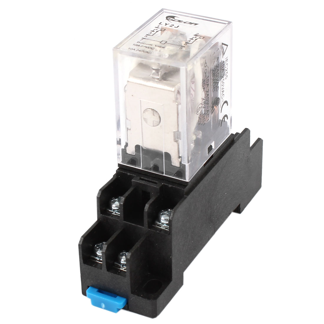 Подробнее о 35Mm Din Rail Dpdt 8 Pins General Purpose Power Relay Ac 24V Coil W Socket free shipping dpdt electromagnetic power relay dc 12v rating coil w 35mm din rail socket