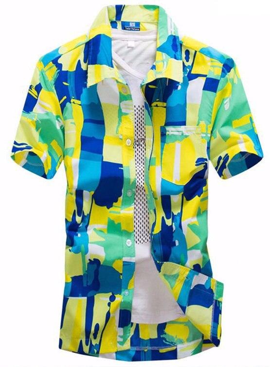 893e1dcea Brand Summer Shirt Hawaiian Men's Hawaii Beach Shirt Men's Short Sleeve  Floral Loose Casual Shirts Plus Size L - 4XL
