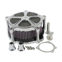 Chrome Air Cleaner Speed 5 For Harley Sportster 1200 883 91-18 Forty Eight 10-14  Seventy Two  1991-2018 Motorcycle 4 5 gal leather tank cover panel w bag for harley sportster xl 883 1200 iron forty eight seventy two motorcycle