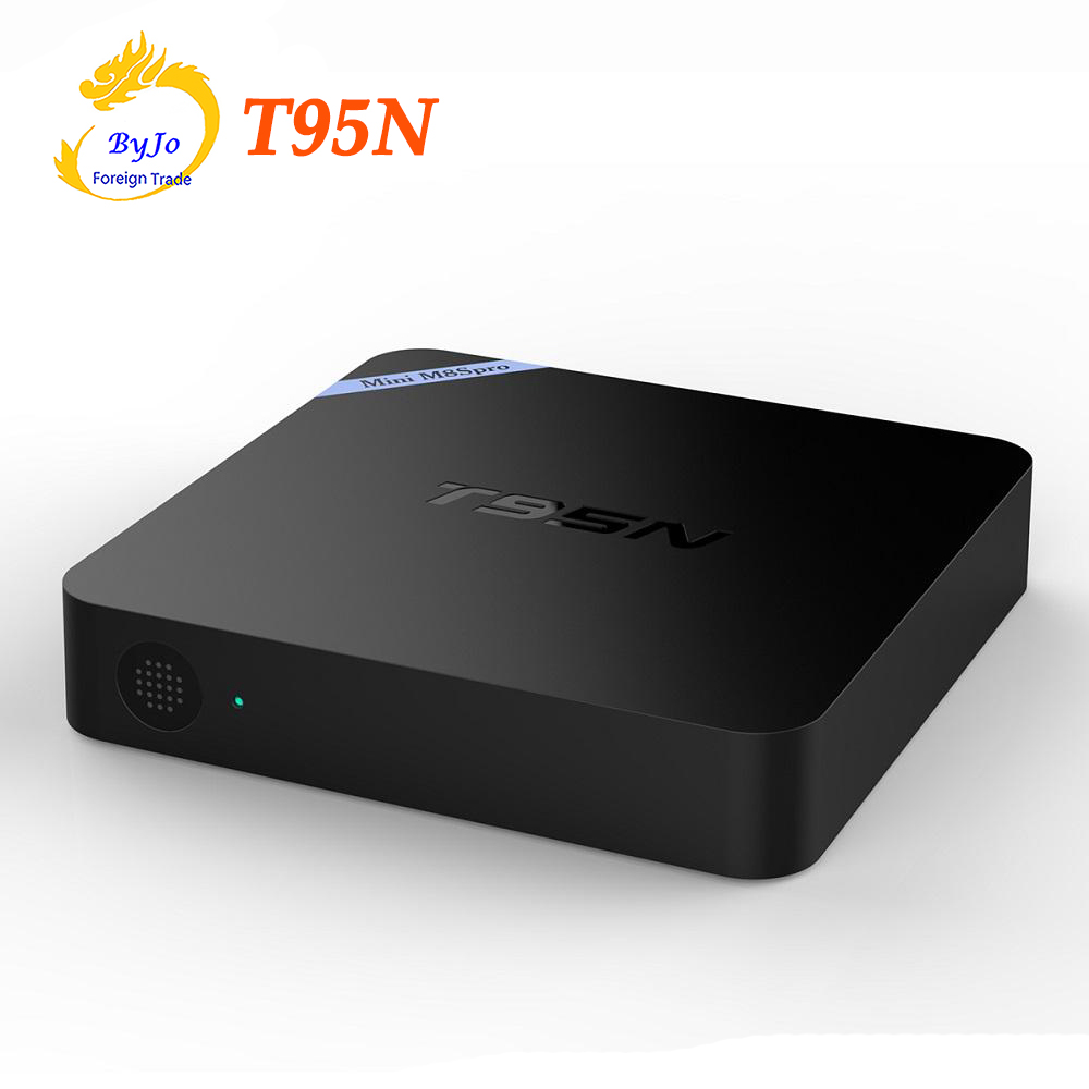 Boîtier TV T95N Mini M8S Pro Android 6.0 S905X Quad Core Wifi 1G 8G ou 2G 8G mémoire décodeur intelligent pour x96