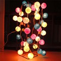 20 lâmpada/set Algodão Bolas Decorativas de Natal Luzes LED String Casamento Guirlandas Casamento Suprimentos Bar Do Jardim Decoração Do Partido