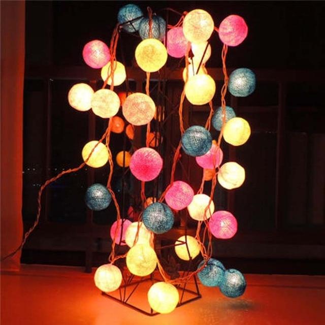 Bulb Set Cotton Balls Christmas Decorative Led Lights String Garlands Wedding Marriage Supplies Garden Bar