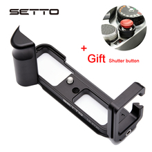 SETTO Pro Dikey L Tipi Braketi Tripod Hızlı Bırakma Plakası Taban Kavrama Kolu Fujifilm Fuji XT20 X T20 X T10 XT30 Kamera