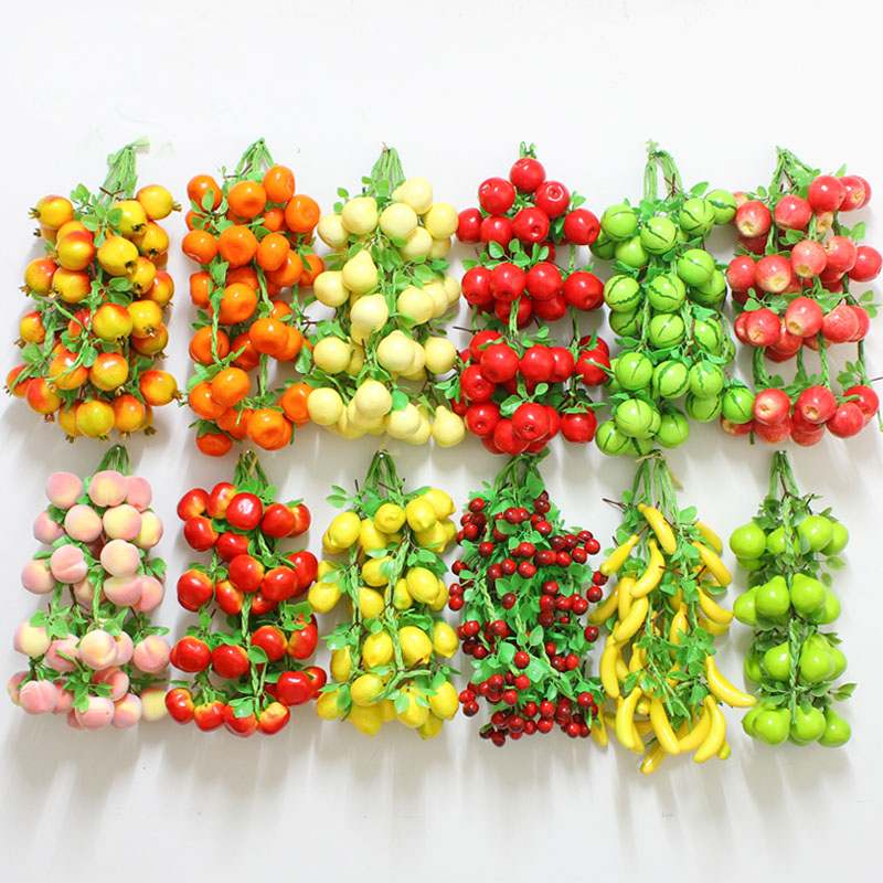 050 Simulation of vegetable and fruit hanging string simulation plastic model vegetable fruit string in Artificial Foods Vegetables from Home Garden