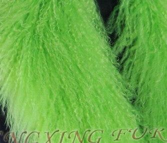 CX-A-52P из натуральной монгольской Овцы меховой воротник из натурального меха ягненка шарф шарфы накидка дизайн для леди - Цвет: Армейский зеленый