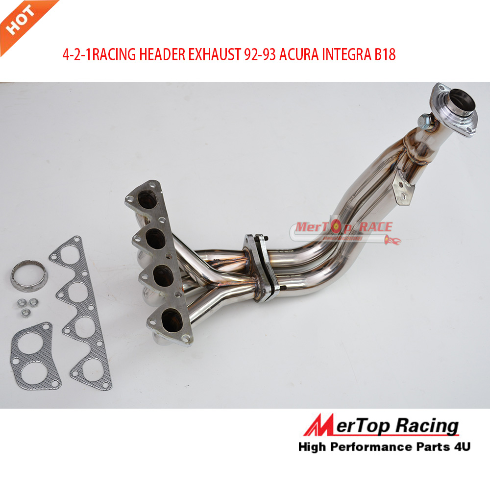 MERTOP Race 4 2 1 SS304 RACING HEADER EXHAUST 92 93 ACUR INTEGRA B18 In Exhaust Manifolds From Automobiles Motorcycles On Aliexpress