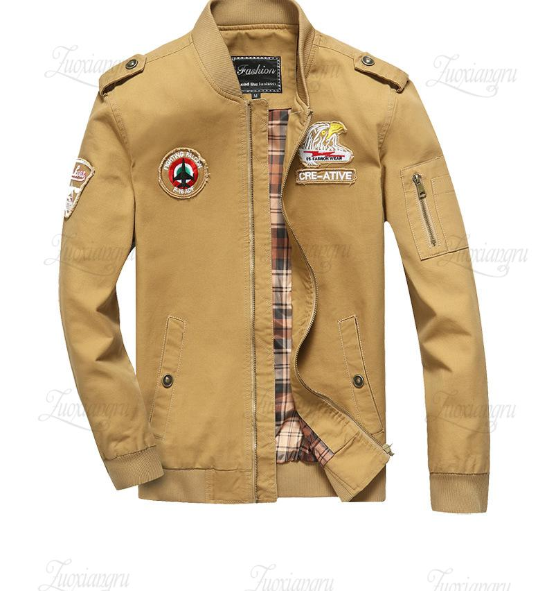 63964c7d634 Bomber Jacket Men Aeronautica Militare Men Air Force One Mens Tactical  Jackets And Coats Army Military Pilot Jacket