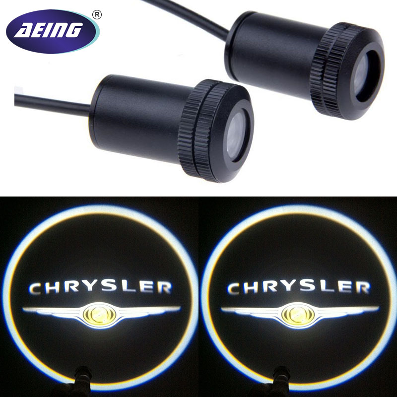 AEING 2*Universal Ghost Shadow Logo welcome Car LED Door Light Laser Courtesy Slide Projector logo Emblem light For CHRYSLER 1 pair auto brand emblem logo led lamp laser shadow car door welcome step projector shadow ghost light for audi vw chevys honda page 5