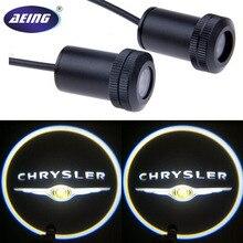 2*Universal Ghost Shadow Logo welcome Car LED Door Light Laser Courtesy Slide Projector logo Emblem light For CHRYSLER
