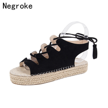 New Sandals Women Wedges Shoes Woman High Heels Platform Espadrilles Gladiator Sandals 2019 Summer Sandalia Feminina Plus Size vankaring new 2018 summer fashion patent leather shoes woman gladiator sandals shoes wedges high heels platform women sandals