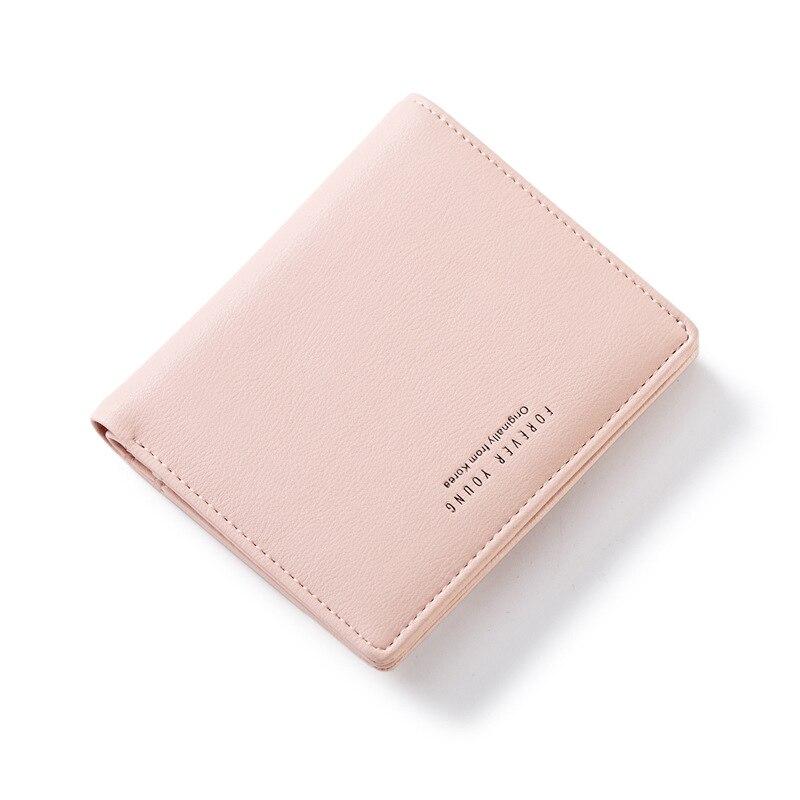 Female Wallet Slim Purse Small Blue Ladies Card-Holder Coin-Bag Short Zipper Women Cartera