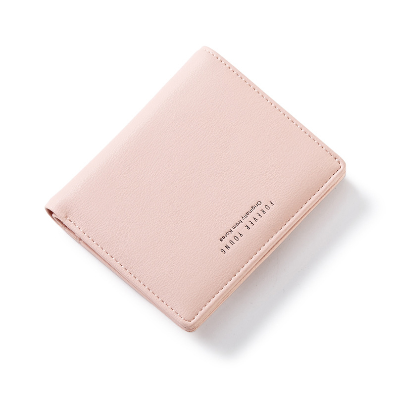 Short Women Wallets Zipper Coin Bag In Back Blue Soft Leather Ladies Card Holder Slim Purse Female Wallet Small Cartera Mujer