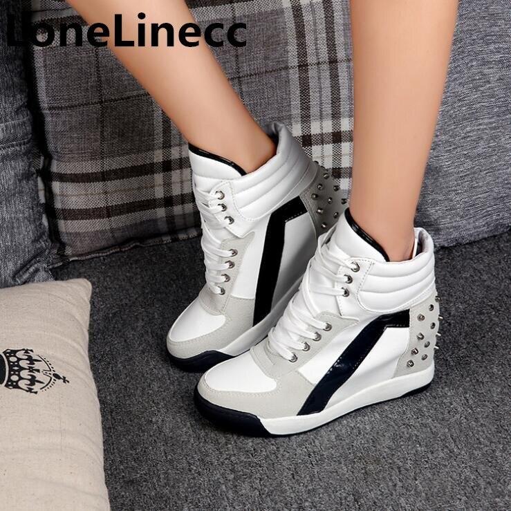 Bottes Aider Dentelle Noir forme Automne Plate Chaussures Hauts 2019 D hiver  Coins Cheville Haute Talons Les Rivet Femmes blanc qEwInnaO 7e59fa53b80f