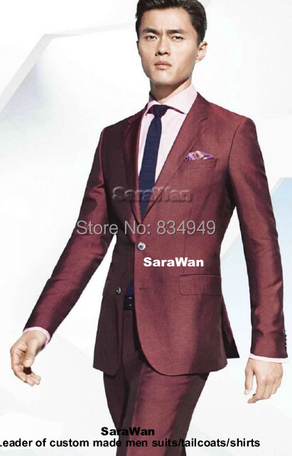 Aliexpress.com : Buy Custom Made Dark Red Business Men Suit ...